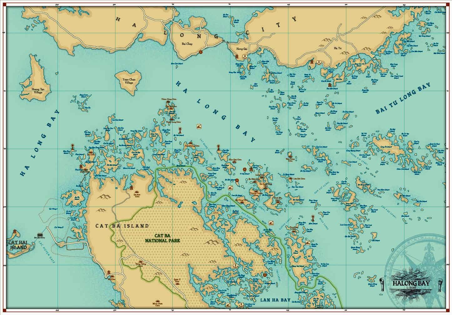 Halong Bay Maps Vietnam Travel Map