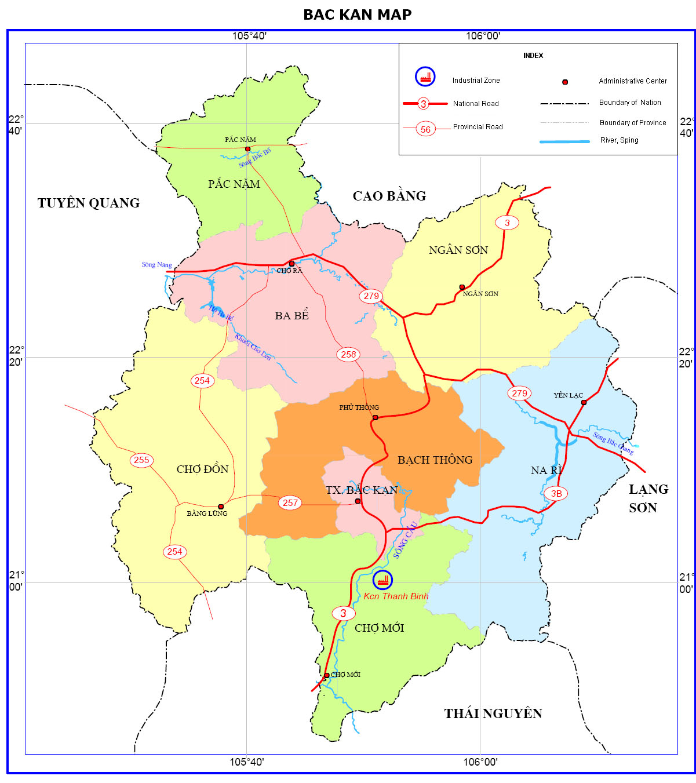 Bac Kan map