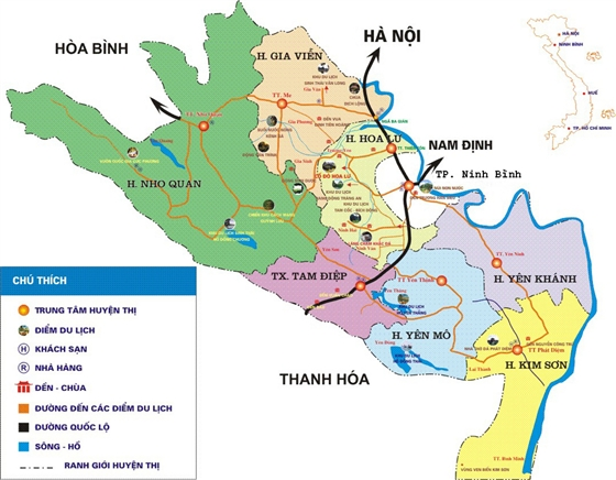 Ninh Binh route map