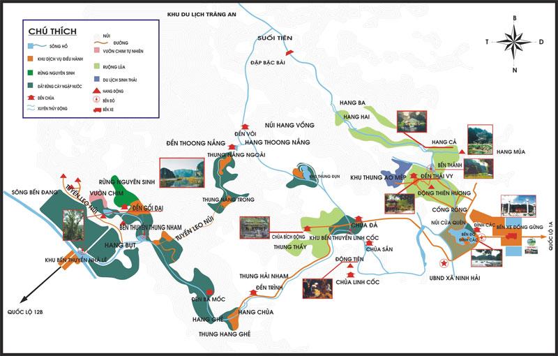 Ninh Binh tour map
