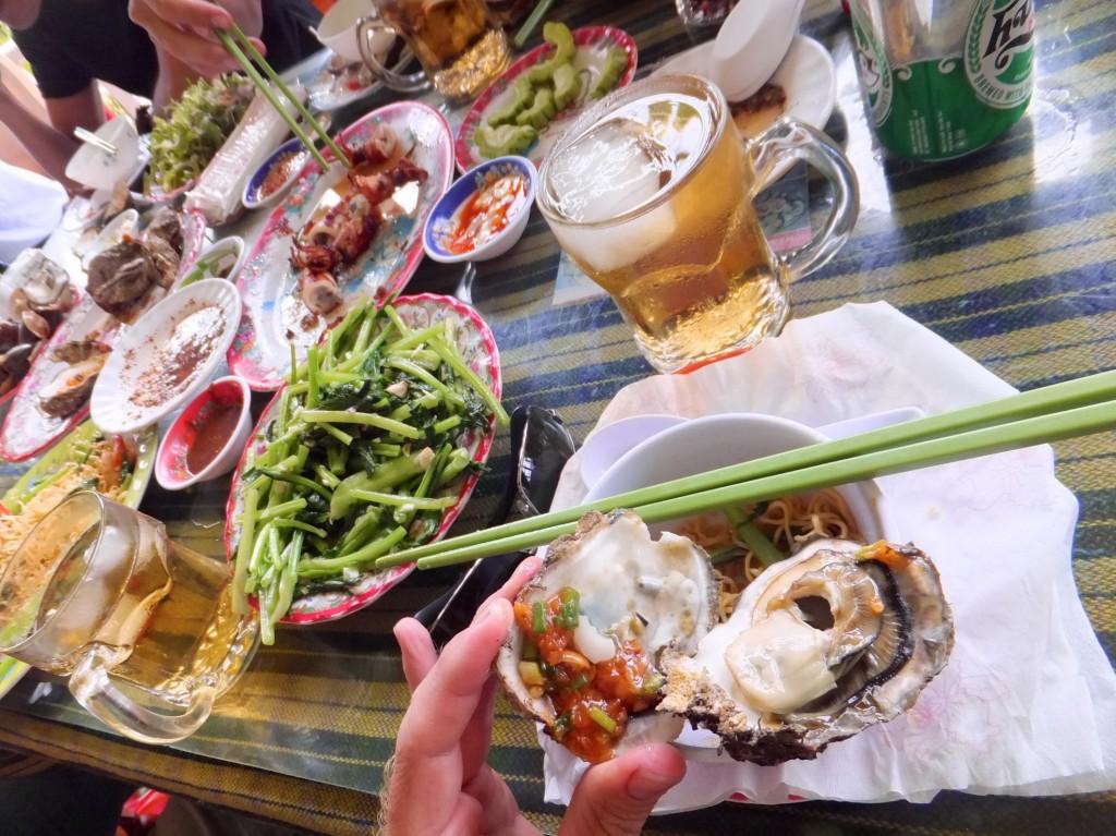 Seafood at Lang Co Bay, Vietnam