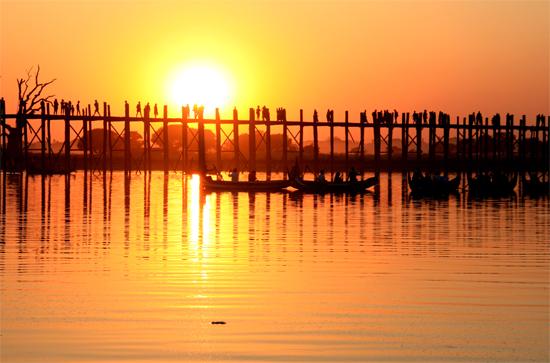 U Bein Bridge - a place to visit in Mandalay, Myanmar