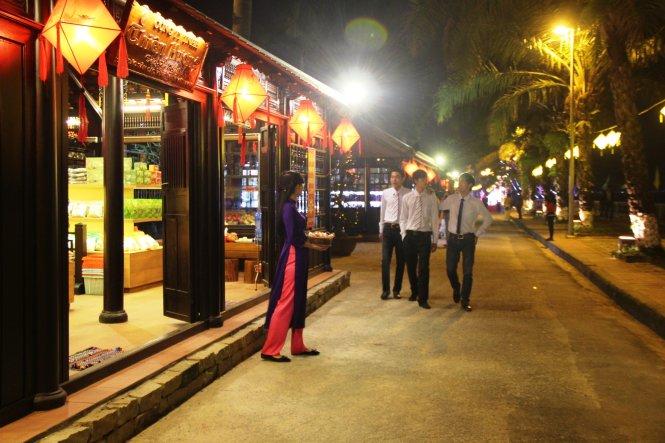 Nguyen Dinh Chieu Pedestrian Street in Hue Vietnam