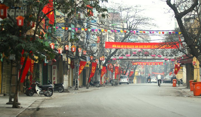 Hanoi on the first day of the Lunar New Year - Streets are very quiet!