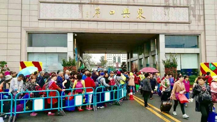 Chinese Tourists at Mong Cai Border before traveling toHalong Bay