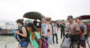 Foreign Tourists at Cai Rong Port, Van Don Dist,Quang Ninh Province