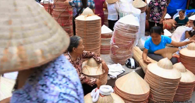 Traditional Chuong Village Hanoi with Classical Vietnamese Conical Hats