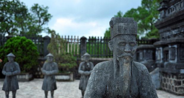 At Khai Dinh Royal Tomb in Hue, Vietnam