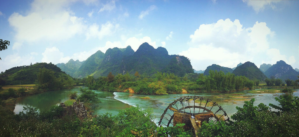 Quay Son river in Cao Bang Vietnam