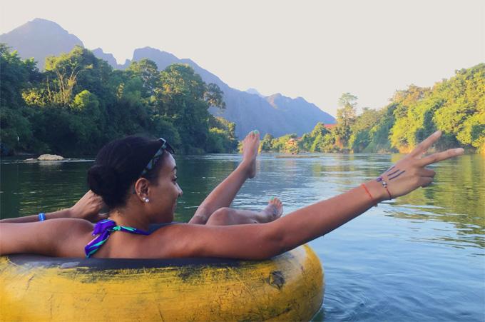 River tubing in Vang Vieng Laos