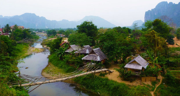 The scenary landscapes of Vang Vieng Laos