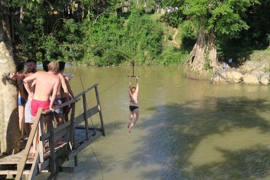 Ziplining in Vang Vieng Laos
