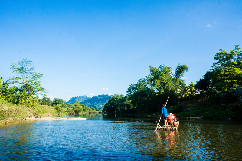Rafting is One of Activities during Pu Luong Nature Reserve Tours