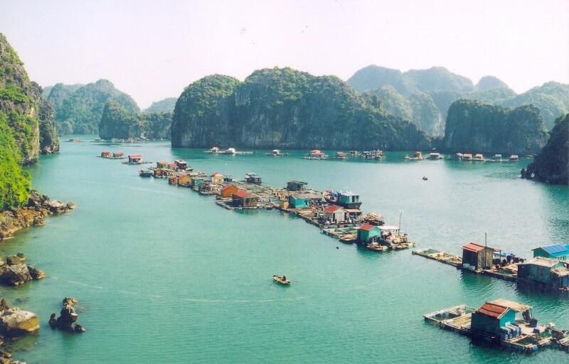 Cai Beo Floating Village in Lan Ha Bay